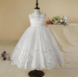 $enCountryForm.capitalKeyWord Australia - flower girl dresses elegant Tulle girl kids birthday Lace ball gown flower girl dresses white First Communion Dresses Girls Ball Gowns