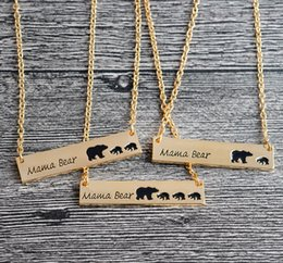 Discount easter gifts for wife 2018 easter gifts for wife on sale 2018 easter gifts for wife silver gold plated bear necklace polar mama bear necklaces jewelry gifts negle Image collections