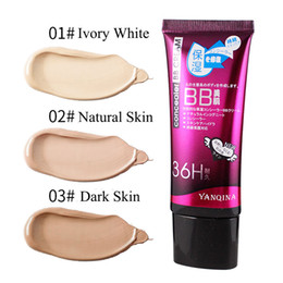 $enCountryForm.capitalKeyWord NZ - YANQINA 3 Colors Natural Flawless BB Cream Brightening Moisturizing Concealer Nude Foundation Makeup Face Beauty Tools Hot