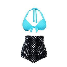 Green dot bikini online shopping - Pregnancy Swimwear Women Pregnant Swimsuit Maternity Woman High Waisted Beach Sexy Bikini Sets Retro Suit Solid Dot Aurola Star