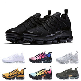 half off e3588 d4ef1 2019 TN Plus Men Trainers Air Cushion TN Women White Black Blue Basketball Running  Shoes Requin Chaussures Designer Luxury Maxes Sneakers
