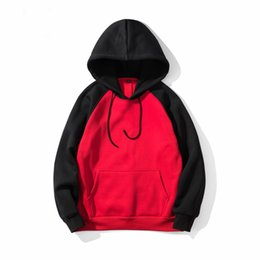 mens casual hooded shirts UK - 7 Colors Hooded Men Hoodies Sweatshirts Casual Pullover Solid Red Black Colorful Brand Mens Hoodie Hip Hop Tracksuit Sweat Male Shirt Coat