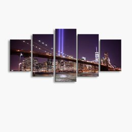 Art Canvas Prints Australia - 5 pieces high-definition print Bridge canvas oil painting poster and wall art living room picture PF5-240