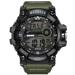 8632bca7442 WAKNOER Watch Fashion Luxury Digital Men Watch Multifunction Waterproof Men s  Watch LED Military Sport Watces relogio masculino Y1892507