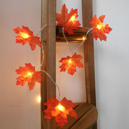 leaf string lights NZ - 1pcs lot Christmas Tree Decorate Lamp String Maple Leaves LED Lights Line Festival Decorative Lamps Party Supplies For Wedding