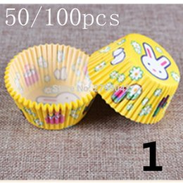 tart paper 2019 - 10 styles 100 pcs cupcake liner baking cup cupcake paper muffin cases Cake box Cup egg tarts tray cake mould decorating