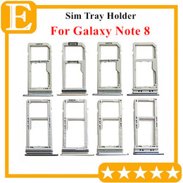 sim card memory NZ - 100% New Double Sim Micro SD Memory Card Tray Holder Slot For Samsung Galaxy Note 8 N950 Dual Single Sim Tray 10PCS