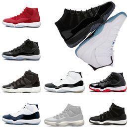 official photos d4780 b11ab New Basketball Shoes Sneaker für Männer Frauen 11s Kappe und Kleid PRM  Heiress Concord 45 Gym rote Männer Sport Herren Designer Schuh Scarpe