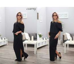 Discount easy flooring - Summer Side Vent Pocket Easy maxi Dress long sleeves 0033# clothing ladies casual dresses for women clothes 2015 woman d