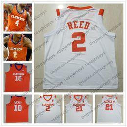 Thomas gold online shopping - NCAA Clemson Tigers Marcquise Reed Shelton Mitchell Elijah Thomas Aamir Simms white orange Stitched College Basketball Jerseys S