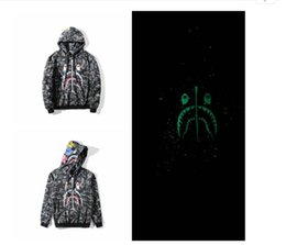 $enCountryForm.capitalKeyWord Australia - Autumn sweater luminous Star Shark long-sleeved hooded jacket hip-hop men's sweater cardigan hoodies sports and leisure street hoodies