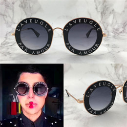 SunglaSSeS woman circular online shopping - The new fashion designer sunglasses retro circular letter frame hot popular summer style outdoor uv400 protective eyewear