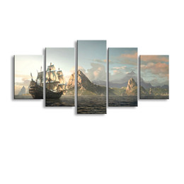 $enCountryForm.capitalKeyWord Australia - 5 pieces high-definition print Sea Island canvas painting poster and wall art living room picture HaiD-007