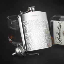 flask alcohol bottles 2019 - Hot Sale Portable Stainless Steel Travel Hip Flask Whiskey Alcohol Liquor Bottle Flagon Mini Flagon With Leather Bag che