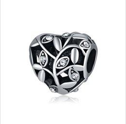 Beads & Jewelry Making Beads Humor Spinner Hollow Heart Charms Beads Fit Pandora Charm Bracelet For Women Diy Original Silver Jewelry
