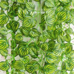 Decorative Vine Plant NZ - Wholesale-Artificial Ivy Vine Green Leaves Foliage Plant Wedding Decoration Party Home Decor Decorative Flowers