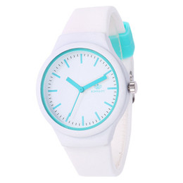 Cheap Quality Battery UK - Brand Children Silicone StrapWatches High Quality Fashion Student Cartoon Watch Cheap Boys and Grils Sports Wristwatch 7 Colors Wholesale