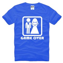 ddd37c823163 GAME OVER Marriage Wedding Humor Creative Wedding Gift Mens Men T Shirt T- shirt 2016 New Short Sleeve O Neck Casual Tshirt Tee