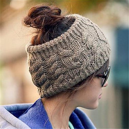 Wholesale Korean Style Winter Warm Women s Braided Knit Wool Hat Cap Hair band