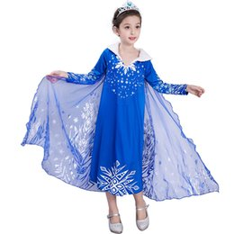 593e18d184 Long ankLe Length denim dresses online shopping - 2018 New Frozen Dress  Printed Dresses Winter Long