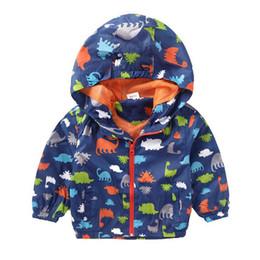 Boys Dinosaur Jacket Australia - Spring Boy Jackets Baby Boys Outerwear Coats Dinosaur Hooded Jacket For Boys Kids Coat Long Sleeve Boys Coat