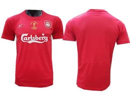 Football Shirts UK - 04 05 Gerrard Retro Jerseys Alonso D.Cisse Soccer Jersey 2004 2005 Baros Luis Garcia Vintage classical Football Shirt