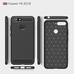 Free Cellphone Cases Australia - Buy Wholesale Cellphone Cases For Huawei Y6 2018 Cover Luxury Soft TPU heavy duty backcover for Huawei Honor Play case Free DHL shipping