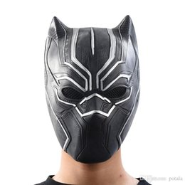 HigH quality masquerade costumes online shopping - High Qualities Black Panther Face Mask Halloween Realistic Men s Latex Party Mask Xmas Cosplay Costume Adults Masquerade Christmas Fant