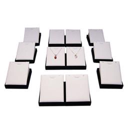 $enCountryForm.capitalKeyWord UK - Wholesale 12Pcs Wooden Jewelry Organizer White Black Stud Earring Tower Faux Leather Velvet Pendant Earring Display Storage Stand 8*9*6.5 cm