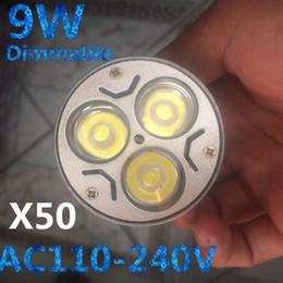 Dimmable E14 Energy Saving Bulb Australia - X50 9W Dimmable LED Bulb 12W 15W Bulb Lights GU10 MR16 E27 E14 B22 LED Spotlights CREE Lights 3x3W Energy-saving Led Lighting Bulbs