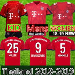 Bayern Munich soccer jersey 2018 2019 Müller RIBERY ROBBEN LEWANDOWSKI  football shirts Bayern Munich uniforms WOMEN man Kids Kits 5e0ec0381