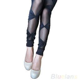 rip leggings NZ - Hot Women's Vintage Sexy Ripped Stretch Legging Pants Black Leggings 0IOY