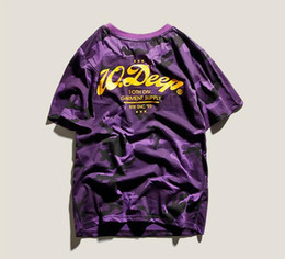 China 2018 summer justin bieber men's original deep purple tide brand personality popular in Europe and the street couples hip hop camouflage T-sh supplier sh fashion suppliers
