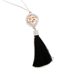 $enCountryForm.capitalKeyWord UK - New Wave Pattern Stainless Steel Aromatherapy Box Pendant Necklace Female Fashion Jewelry Gift 60cm Necklace + 2 Mat SC850