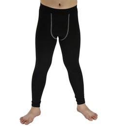 d8725762e Pantalones ajustados de la capa de la compresión de los niños del niño del  deporte del niño Pantalones corrientes del entrenamiento del fútbol  Pantalones ...