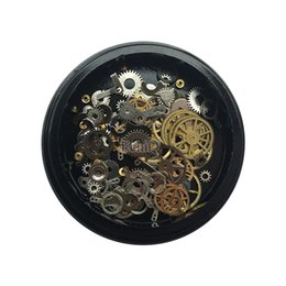 $enCountryForm.capitalKeyWord UK - Non-Mainstream Decoration Time Wheel Steam Punk Style Nail Art Studs Alloy Machine Parts Manicure DIY Nail Art Rhinestones Tools