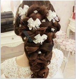 $enCountryForm.capitalKeyWord NZ - Bride's hand gauze beads, headwear, hair, red wedding accessories, white wedding dress accessories.
