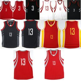 2017-2018 New Men s  13 James Harden 3 Chris Paul jersey High quality  stitched jerseys Top sales Free Shipping 575853157