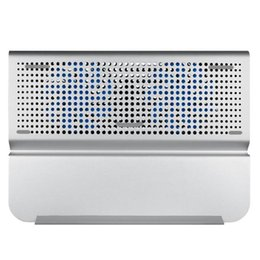 $enCountryForm.capitalKeyWord NZ - 2 Fans Aluminum Alloy Laptop Cooler Notebook Cooling Laptop PC Computer Cooling Pad for 12-15 inch MacBook