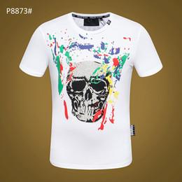$enCountryForm.capitalKeyWord NZ - Hip hop Skull men t shirt high quality clothes cotton Printed Phillip Plain T Shirts men casual O Neck tshirt male short sleeve plus size