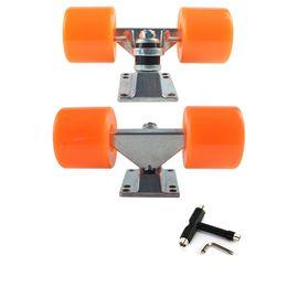 "$enCountryForm.capitalKeyWord Canada - Longboard Truck 3.25"" Parts Skateboard Wheels 60x45mm ABEC 9 bearing kit Truck Wheels Complete"