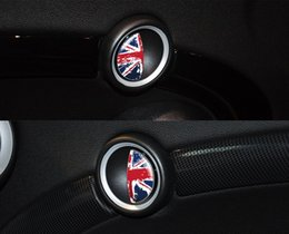 world cars Australia - National flag Black and white grid stickers The World Cup Printing football fans Car Interior Decoration Handle Sticker for BMW Mini Cooper