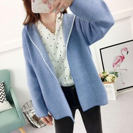 2018 Poncho Blusas De Inverno Feminina Autumn And Winter New Pattern Fund Joker Sweater Woman Cardigan Hat Knitting Loose Coat