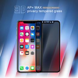 d5dcd287f9a Privacy Anti Glare glass para iphone X NILLKIN Anti-peeping cubierta  completa Protector de pantalla de vidrio templado para Apple iphone X