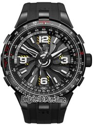 China Best Version Turbine Pilot A1085-1 Titanium Dial Automatic Mens Watch Tachymeter Scale Appears Around The Outer Rim Rubber Strap Watches Pa1 suppliers