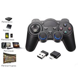 bluetooth game controller android phone NZ - ZXZ 2.4G Bluetooth Wireless Gamepad For PS3 Android Phone PC TV Box Joystick Joypad Game Controller Remote For Xiaomi OTG Phone
