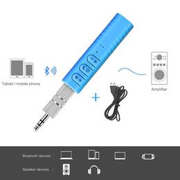 Bluetooth Car Kit 3.5mm AUX Adaptador de audio Adaptador de audio Llamada con manos libres Auto Kit inalámbrico para altavoces de coche Auriculares en venta