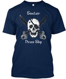 $enCountryForm.capitalKeyWord NZ - Sinclairs Pirate Ship T-shirt Élégant T-shirt Men Designer Custom Short Sleeve Boyfriend's XXXL Group Tee Shirts