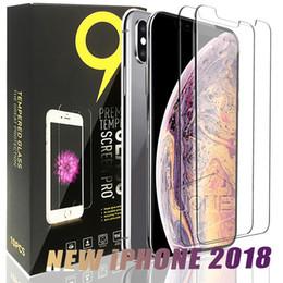 Para 2018 NUEVO Iphone XR XS MAX 8PLUS X Protector de pantalla de vidrio templado para iPhone 6S Plus Samsung S6 S7 Note 5 pantalla clara protección de la película