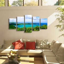 $enCountryForm.capitalKeyWord Australia - 5 pieces high-definition print landscape canvas oil painting poster and wall art living room picture PL5-135